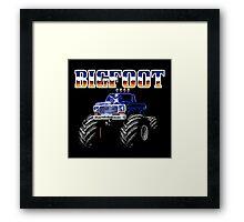 BIGFOOT CLASSIC NES GAME Framed Print