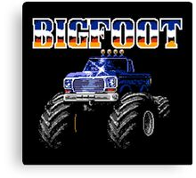 BIGFOOT CLASSIC NES GAME Canvas Print