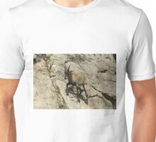 Ibex on a cliff Unisex T-Shirt