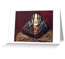 The Mourning Mask, Wrapped In Tradition Greeting Card