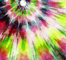 Kiwi Tie Dye Watercolor by Phil Perkins