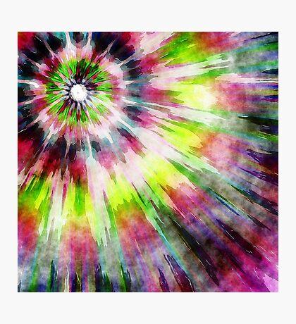Kiwi Tie Dye Watercolor Photographic Print