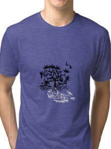 Tree black and white Tri-blend T-Shirt
