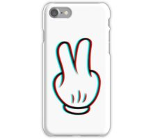 Mickey Mouse Peace Glitch iPhone Case/Skin