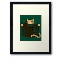 How To Rule The Internet For Cats - Green Framed Print
