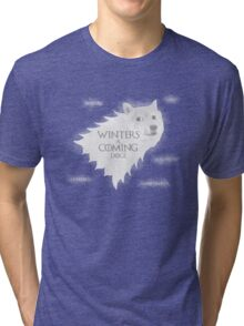 House Doge - Such Winter, Much Soon Tri-blend T-Shirt
