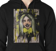 Happy clown goes punk  Zipped Hoodie