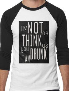 A Good Time Drunk Men's Baseball ¾ T-Shirt