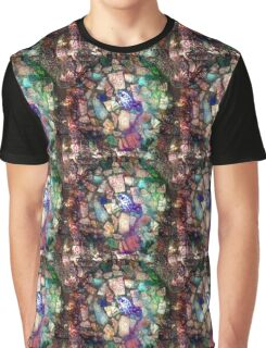 Blue Willow Extrapolated Mosaic Graphic T-Shirt