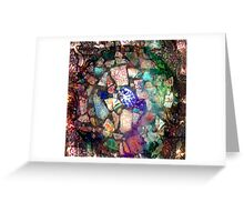 Blue Willow Extrapolated Mosaic Greeting Card
