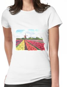 Holland flowers Womens Fitted T-Shirt
