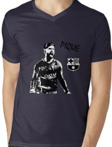 Gerard Pique - Barcelona Mens V-Neck T-Shirt