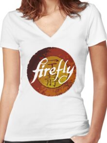 The One Season Only 'FIREFLY' Women's Fitted V-Neck T-Shirt