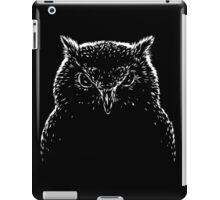 Black and white owl bird iPad Case/Skin