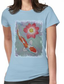 Koi and Lotus Womens Fitted T-Shirt