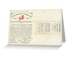 1894 Petition of Companion Harry Willard Bostwick, Mt. Olivet Commandery No.30 Knights Templar Greeting Card