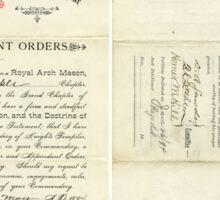 1894 Petition of Companion Harry Willard Bostwick, Mt. Olivet Commandery No.30 Knights Templar Sticker