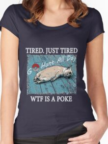 Dog After So Much Catch' Em All Poke T Shirt Women's Fitted Scoop T-Shirt