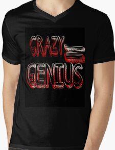 Crazy Genius Mens V-Neck T-Shirt