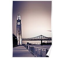 Montreal Clock Tower 2 Poster