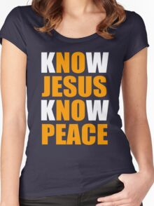 Know Jesus Know Peace Women's Fitted Scoop T-Shirt