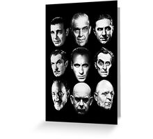 Masters of Horror Greeting Card