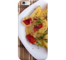 Top view of the pieces of potato stew with vegetables iPhone Case/Skin
