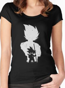 Son Goku old and young Women's Fitted Scoop T-Shirt