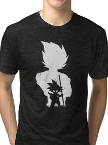 Son Goku old and young Tri-blend T-Shirt