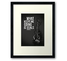 Motivational Poster - Muhammad Ali - What keeps me going is goals  - Inspirational Art Framed Print