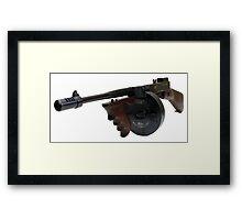 The Thompson Submachine Gun Framed Print