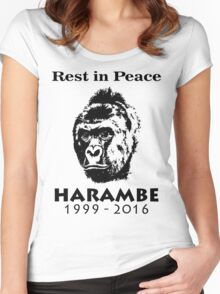 Rip Harambe Women's Fitted Scoop T-Shirt