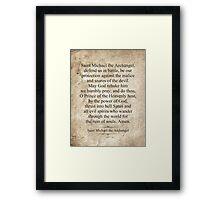Saint Michael the Archangel Framed Print