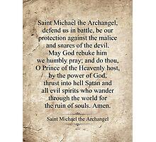 Saint Michael the Archangel Photographic Print