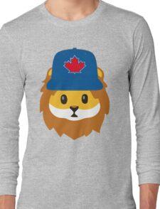 Full Print - Blue Jays No Fear Lion Emoji Long Sleeve T-Shirt