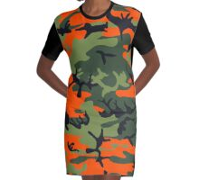 Camouflage 001 Graphic T-Shirt Dress