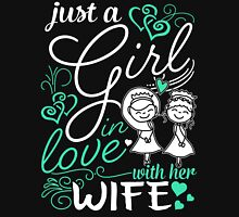 Just A Girl In Love With Her Wife Womens Fitted T-Shirt