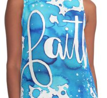 FAITH watercolor Blue Contrast Tank
