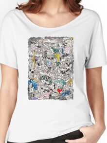 Fun Kamasutra Bodies Figures Doodle in Color Women's Relaxed Fit T-Shirt