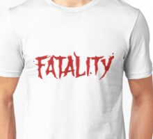 Mortal Kombat Fatality Red Bloody Text Funny Tshirt Unisex T-Shirt