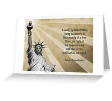 Second Amendment Greeting Card