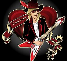 Tom Petty Portrait by Sydney Eller