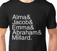 The Peculiars List (white) Unisex T-Shirt