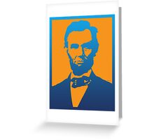 Abraham Lincoln Pop Art Greeting Card