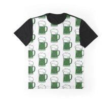 Green,Black,Beer,Mug,Lace Graphic T-Shirt