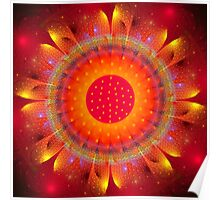 Magical Fire Flower Poster