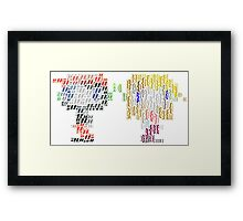 Quotes and Braces Framed Print