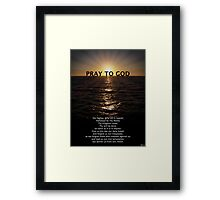 Our Father Prayer Framed Print