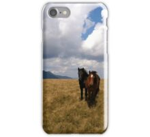 Wild horses and ominous clouds iPhone Case/Skin