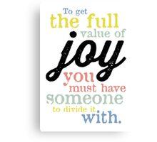 Joy (Mark Twain) Canvas Print